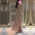Luxury Pearl Beading Muslim Mermaid Evening Dresses Abendkleider 2017 Simple Party Dress Evening Gowns Vestido De Festa Longo