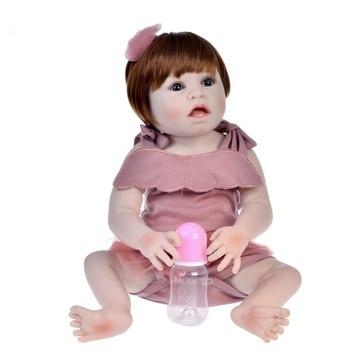 55cm Full Silicone Body Reborn Baby Doll lol Vinyl Newborn Princess toddler babies Bebe Bathe Accompanying Toys Birthday Gift
