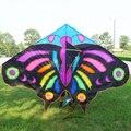 Alta calidad del envío 3 m mariposa kite cometa grande con línea de la cometa kite niños juegos ripstop tela de nylon hcxkite