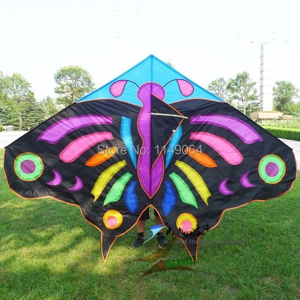 Livraison gratuite haute qualité 3 m papillon cerf-volant grand cerf-volant avec ligne de cerf-volant enfants cerf-volant jeux ripstop nylon tissu hcxkite