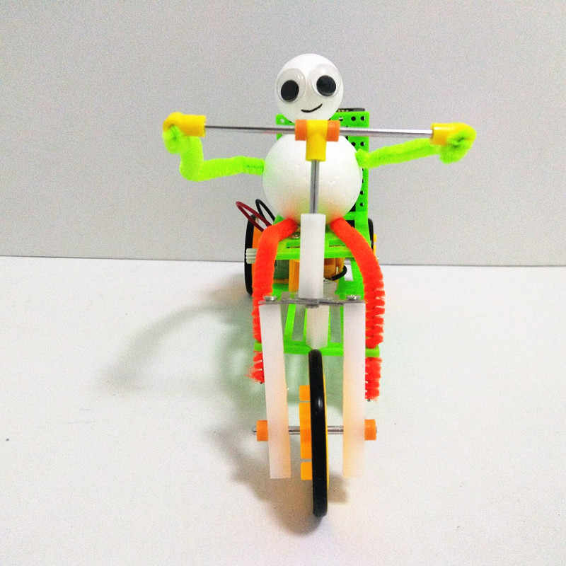 Happyxuan Kids Experiments Physics Educational Electric Toys Tricycle Bike  Inventions Science DIY STEM Kits Creative Handwork