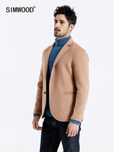 SIMWOOD 2019 Spring Men Blazers Smart Casual Single Breasted Wool Coats Fashion High Quality Male Suits Brand Clothing 190077