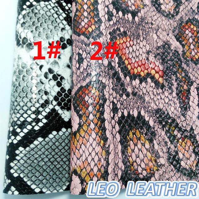 1 pcs 21X29 cm Sintético Letaher, Impresso Python Couro De Cobra Para Fazer Arcos e Outros Acessórios 9S24B