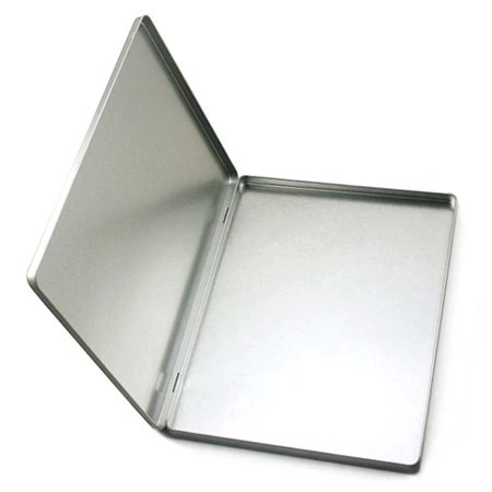 3pcs 30.5*22.8*1.4cm A4 Size Hinged Tin Box For A4 Files Office