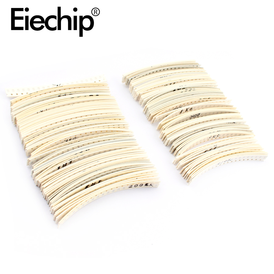 1206 SMD Resistor Assortment Kit 1ohm-1M Ohm Resistors Smd Set 1% 33valuesX 20pcs 1206 Resistance Sample Pack 1R 10R 470R 680R