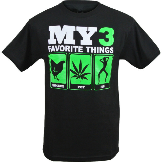 Mens Funny my 3 favorite things Chicken Pot Pie T Shirt Bob Marley ...