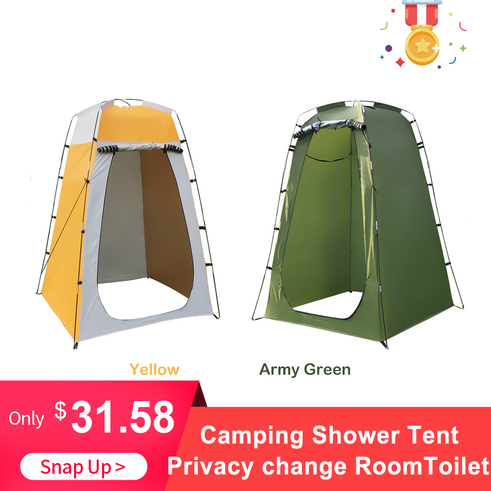 outdoor Portable Shower Toilet Camping Tent For Shower 6FT Privacy Changing Room For Camping Toilet Shower Beach anti UV image