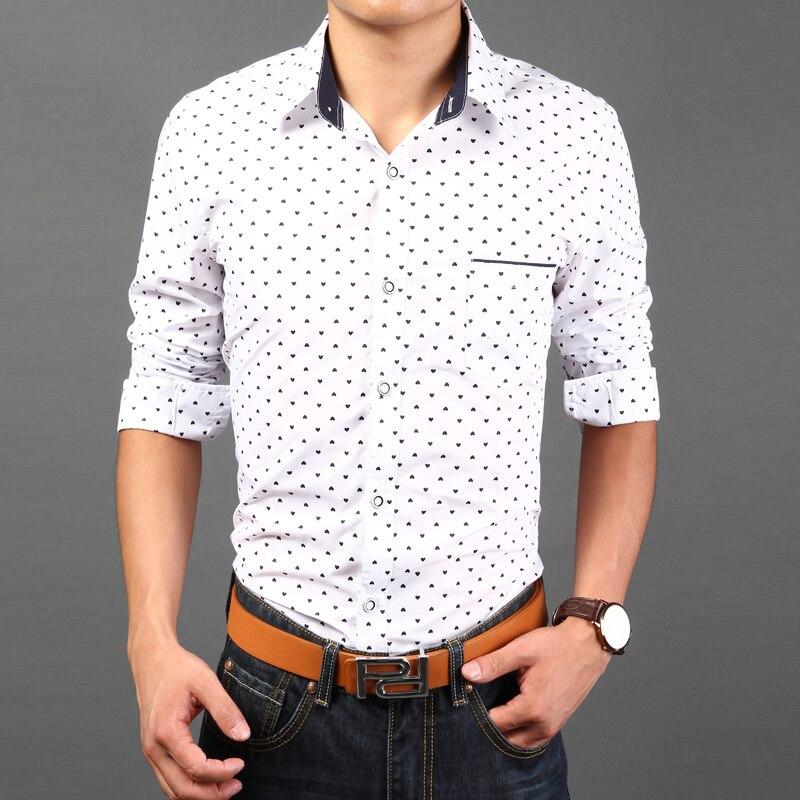 2015 New Spring Autumn Fashion New Long Sleeve Shirts Men ...