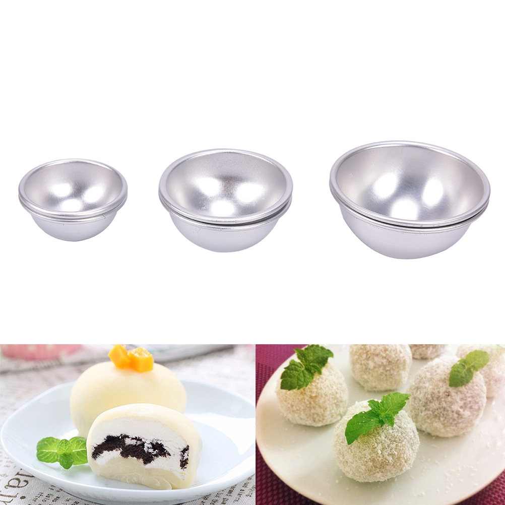 2 Pcs/Lot Creative Mold Bath Bombs Metal Aluminum Alloy Bath Bomb Mold 3D Ball Sphere Shape DIY Bathing Tool Accessories