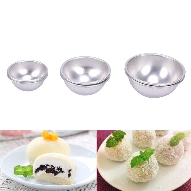 2 Pcs/Lot Creative Mold Bath Bombs Metal Aluminum Alloy Bath Bomb Mold 3D Ball Sphere Shape DIY Bathing Tool Accessories
