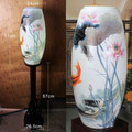 LED Vintage Floor Lamp Pretty Chinese Style Jingdezhen Ceramic Wood Loft Living Room, Villa,Hotel, Bedroom