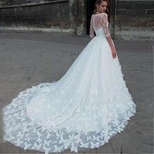 Sexy Sweetheart Off Shoulder suknie ślubne Handmade motyle suknia ślubna długie suknie ślubne z tiulu z odpinaną kurtką