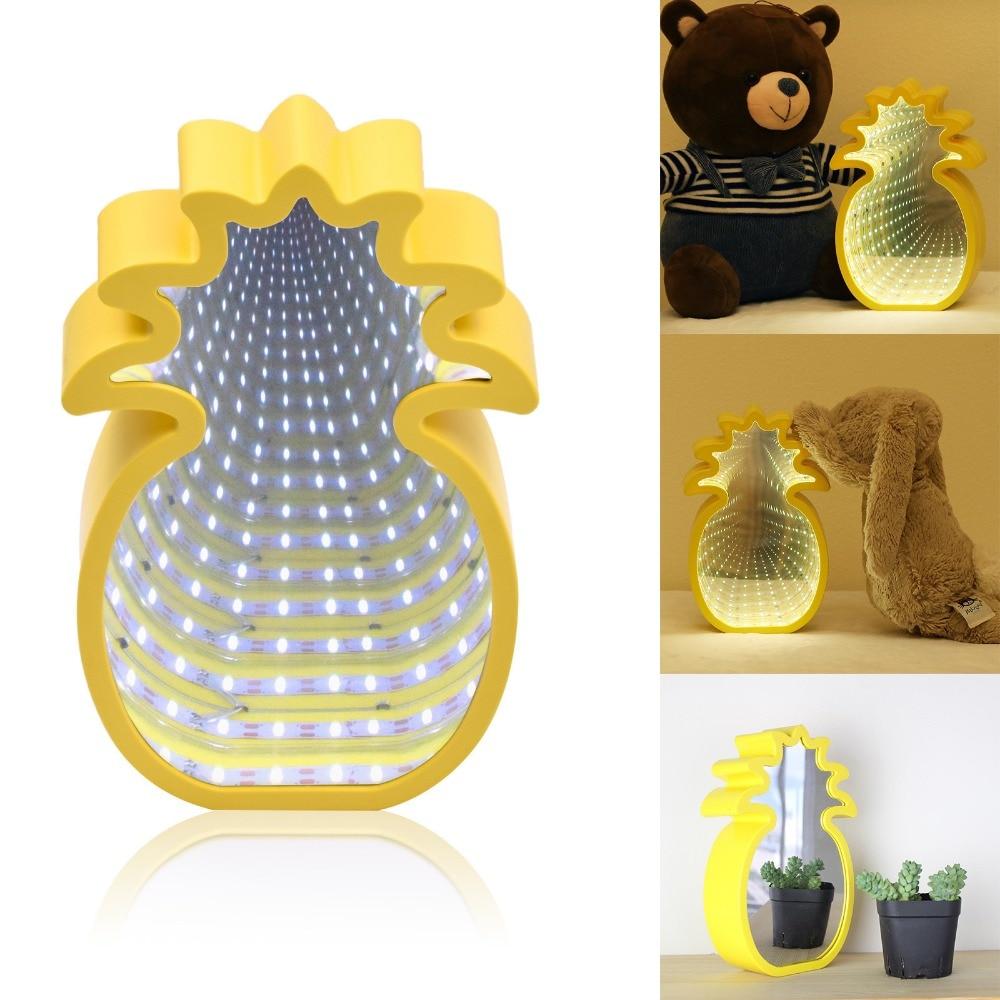 LED Light New 3D Mirror Tunnel Light Creative Unicorn Shape Mirror Lamp Dressing Table Bedroom Decoration Decoration