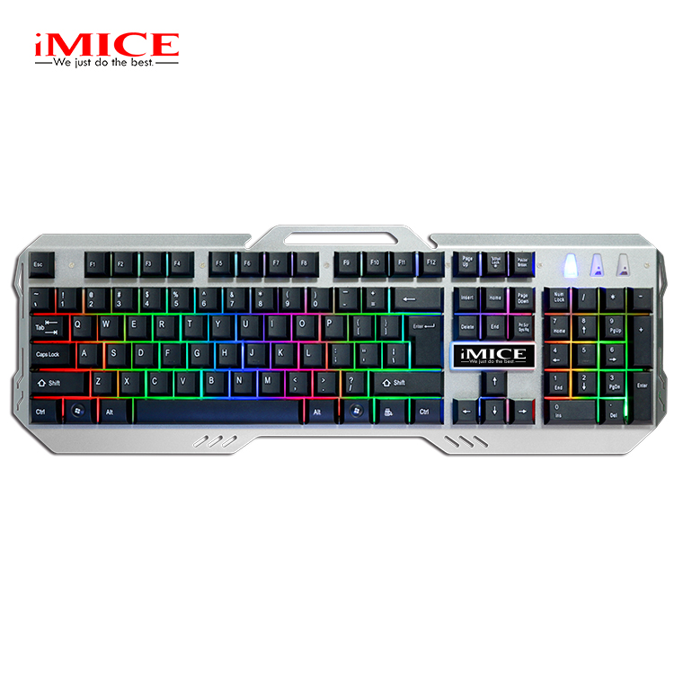Black New Bluetooth Wireless Mouse Keyboard Standard Layout Keyboard M500-S Multimedia USB 104 Keys Wired Colorful Backlight Metal Gaming Keyboard for Computer PC Laptop Color : Black
