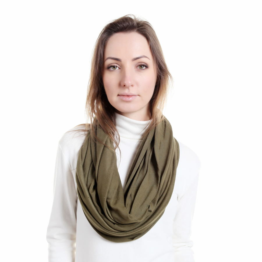 Luxury Brand Women Fashion Solid Polyester Cotton Infinity Scarf Various Neck Gaiter Female Nursing Cover Ring Scarves SC0007