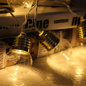 Image 2 - LED dış mekan güneş lambası 9M 50 LED temizle küre ampuller güneş Led dize peri işık açık güneş küre veranda parti cadılar bayramı dekorasyon