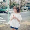 Princess sweet lolita blouse BOBON21 fresh girl light small Strapless Chiffon shirt T1356