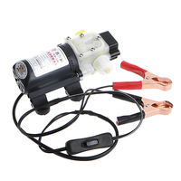 1 Set 12V 45W Car Electric Oil Diesel Fuel Extractor Transfer Pump W Crocodie Clip