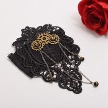 1pc Vintage Women Steampunk Gear Black Lace Armband Upper Arm Bracelet Armlet Cuff