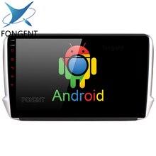 Fongent 10,2 «Android 8,0 Автомобильный gps плеер для peugeot 208 2008 2012 2013 2014 2015 2016 2017 Авто радио мультимедиа навигации