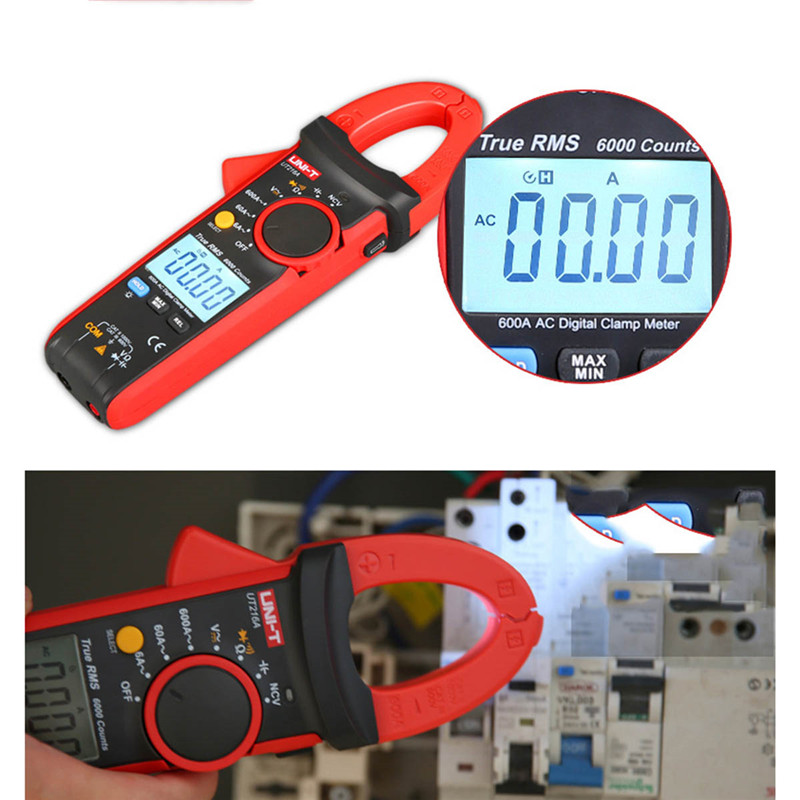 UNI-T UT216A UT216B UT216C Digital Clamp Meter Non-contact voltage detection with LED indication 600A AC current measurement кровать стиллмет оптима красный лак 140х200