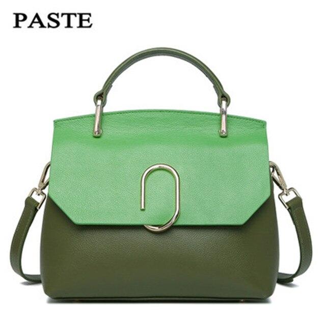 Unique Design 2017 New Spring&Summer Fashion Cow Leather Women's Messenger Bag Tote Bags Candy color Shoulder bags
