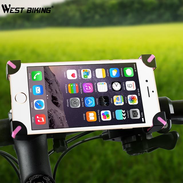 WEST BIKING Universal Bicycle Phone Holder 3.5-5.5″ Navigation Clip Stand For iPhone X XS 8 Mount Bracket Road Bike Phone Holder