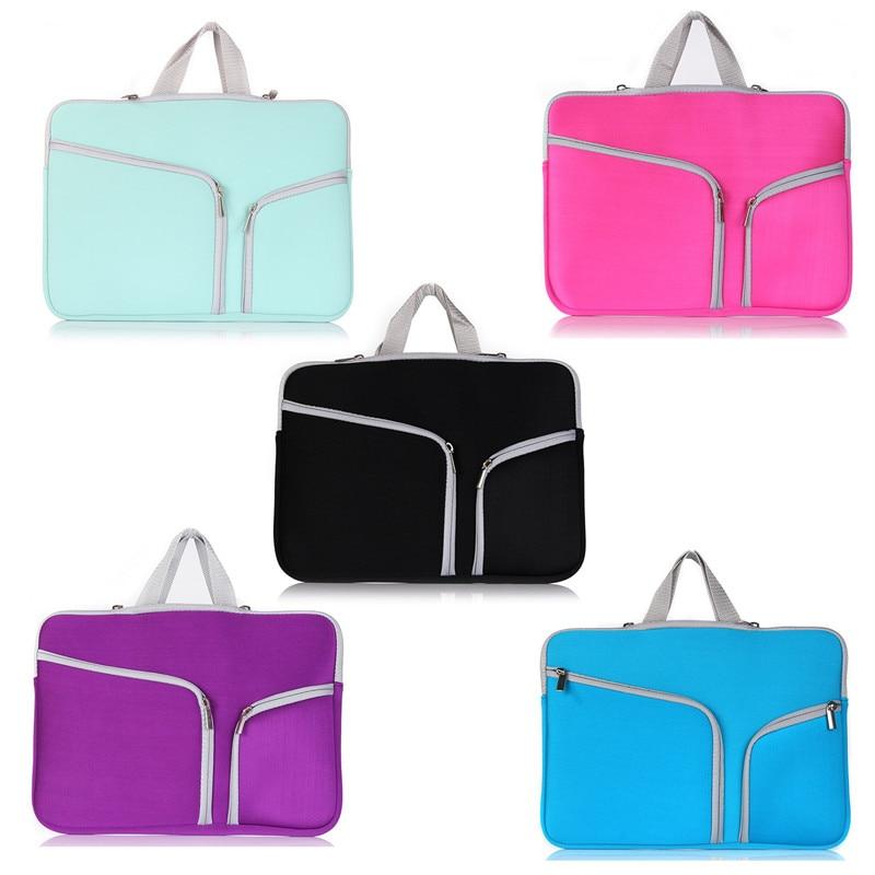 Portable Sleeve Bag Dual Zipper Pocket Bag Carrying Neoprene Case For MacBook Air 11 12 13 Retina 13.3 15.4 Pro 13.3 15.4