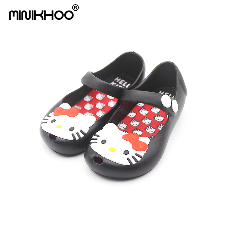 3853930e3f69 Mini Melissa 2017 Mini Hello Kitty Jelly Shoes Sandals Boots Waterproof  Shoes Kids Cats High Quality EUR 24-29 Girls Sandals