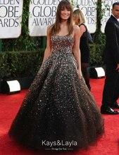 Luxuriöse Shinny Pailletten Perlen Kristall Long Black Prom Kleider mit Strass Tüll ballkleider galajurken vestidos de noche