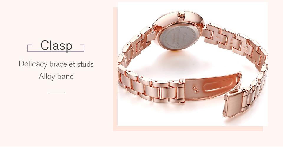 KIMIO Thin Clock Women Fashion Simple Watches Rhinestones Dress Woman Watch Rose Gold Quartz Ladies Women's Watch Wristwatch 29