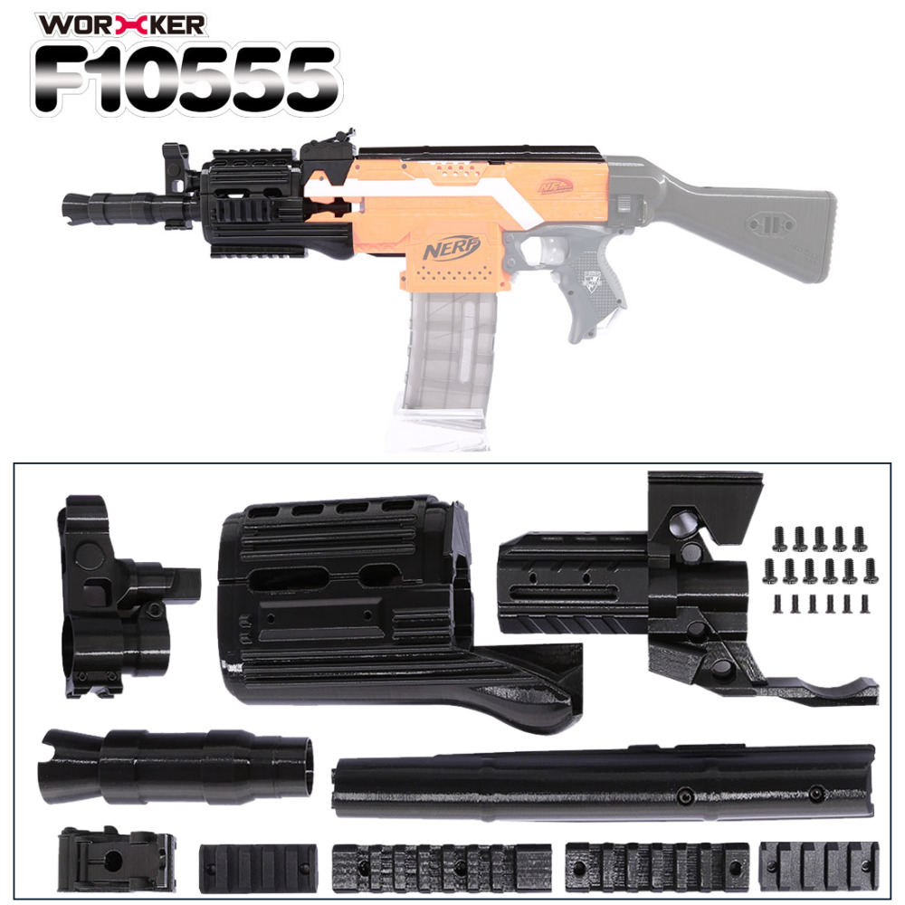 Worker f10555 3D Printing NO.105 Series Short Type Modified Kit for Nerf Stryfe(Type-C) Professional Toy Accessories worker f10555 no 152 stf type b set professional toy gun accessories for nerf stryfe black