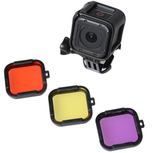 Underwater Diving Filter for Gopro Hero 4 session/5 session Cube Lens Cap Lens Protector Waterproof Filter for Gopro 5 session стоимость