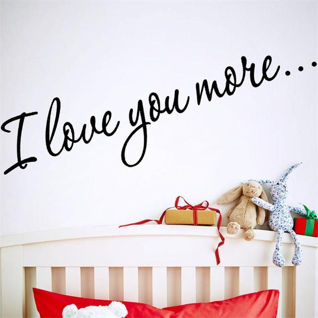 Warm Quote Words I Love You More Home Decal Wedding Decoration Wall
