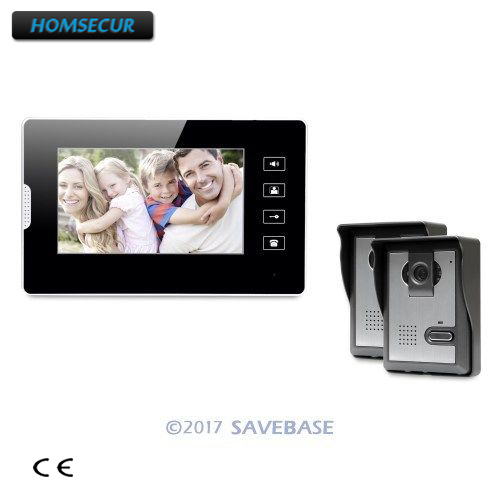 HOMSECUR 7inch Hands-free Video Door Entry Call System with Intra-monitor Audio Intercom