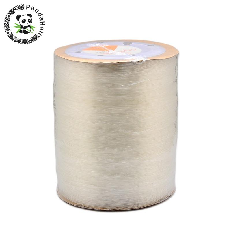 DIY Jewelry Beading Stretch Cord Findings Elastic Crystal Thread, Clear, 0.8mm; 1000m/roll цена