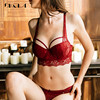 Sexy Womens Underwear Set Cotton Push-up Bra and Panty Sets 3/4 Cup Lace Lingerie Set Deep V Brassiere 2