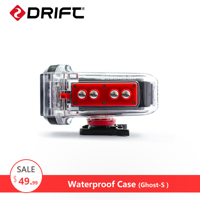 DRIFT Action Camera Accessories Waterproof Case Go Sport pro Bike Motocyle Waterproof Box for Ghost-S