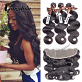 7a Brazilian Body Wave With Frontal Closure Ear To Ear Brazilian Lace Frontal Closure With Bundles Lace Frontal Weave For Sale