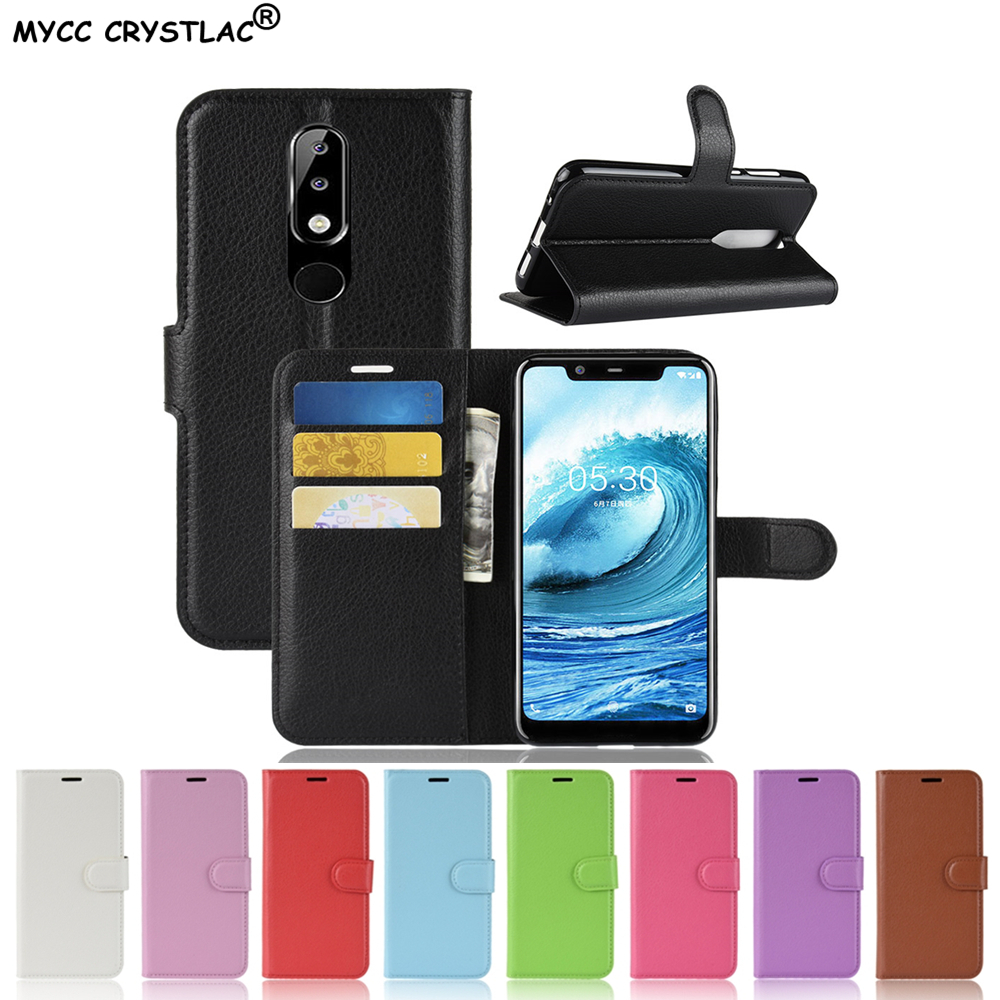 For Nokia 5.1 Plus Case Flip 5.86 PU Leather Cover Phone Case For Nokia 5.1 Plus TA-1109 Nokia5.1Plus Nokia 5.1Plus Case 2018