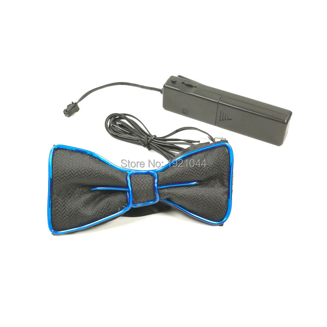 Cheap Blinking Bow Tie EL Wire Bow Tie Glowing Product 10Colors ...