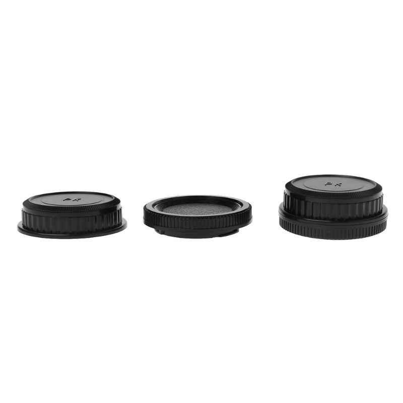 Задняя крышка объектива Крышка камеры набор Анти-пыль винт крепление защита пластик черный для Pentax PK DA126