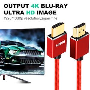 Image 5 - Treccia di Nylon Cavo HDMI 1m 2m 3m 5m 10m 15m 20m cavo hdmi 4k 1080P 3D per HDTV PS4 Xbox Proiettore Del Computer Portatile Del Computer