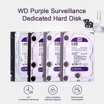 """Western Digital WD Purple Surveillance HDD 1TB 2TB 3TB 4TB SATA 6.0Gb/s 3.5"""" Hard Drive for cctv Camera AHD DVR IP NVR"""