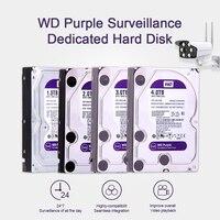 Жесткий диск Western Digital WD фиолетовый HDD для наблюдения 1 ТБ 2 ТБ 3 ТБ 4 ТБ SATA 6,0 ГБ/сек. 3,5