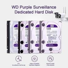 """Western digital wd紫監視hdd 1 テラバイト 2 テラバイト 3 テラバイト 4 テラバイトsata 6.0 ギガバイト/秒 3.5 """"ハードドライブcctvカメラahd dvr ip nvr"""