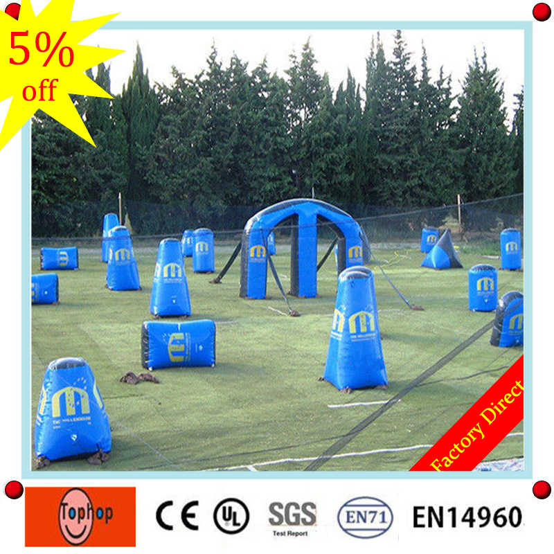 Free shipping! pvc vinyl inflatable paintball bunkers inflatable paintball  arena,millennium field paintball bunker for sale