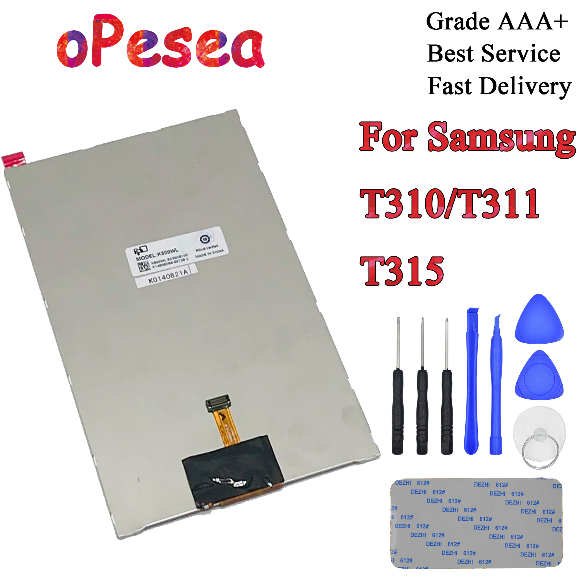 oPesea For Samsung Galaxy Tab 3 8.0 T310 <font><b>T311</b></font> T315 <font><b>SM</b></font>-T310 <font><b>SM</b></font>-<font><b>T311</b></font> <font><b>SM</b></font>-T315 <font><b>LCD</b></font> Display Panel Screen Monitor Replacement Parts image