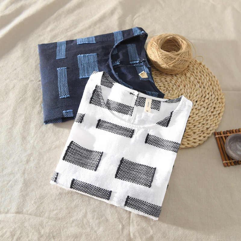 夏の男性のプルオーバーシャツ男性ショートスリーブコットンリネンシャツ男性ファッションカラートレンドラウンド襟トップスtシャツTS-401