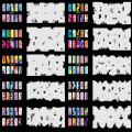OPHIR 20x Nail Template Sheet Stencils 200 Designs Airbrush Stencils for Nail Art Paint Airbrush Nails Art & Tools _JFH5